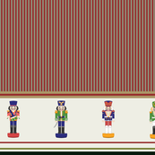 Christmas Nutcrackers Striped border