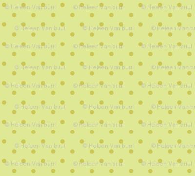 woodland polkadot on green