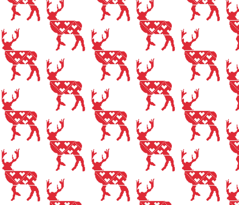 Nordic stag on white fabric by craftwithcartwright on Spoonflower - custom fabric