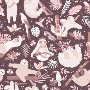 Easy living jungle sloths | bordaux