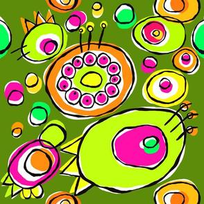 Coloured circles - green