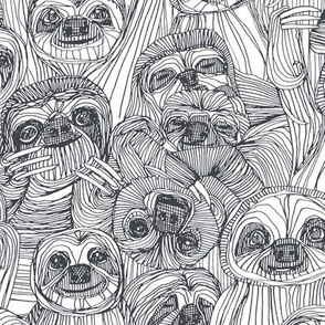 just sloths pewter white