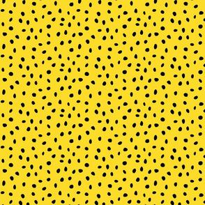 dalmation dots black on yellow