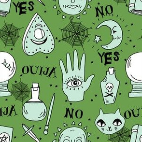 ouija pattern fabric - ouija,, witch, spells illutsration, cat, cats