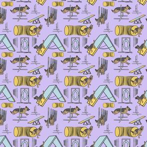 Simple German Shepherd agility dogs small - purple
