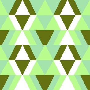 geometric shapes in mint and spring green