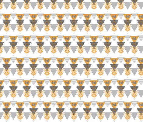 geometric scandinavian bird fabric by luluhoo on Spoonflower - custom fabric