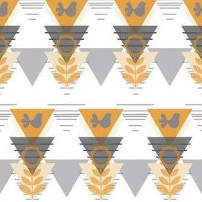 geometric scandinavian bird