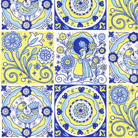 Swedish Greetings fabric by julistyle on Spoonflower - custom fabric