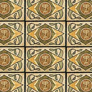 Ancient Menorah Tile
