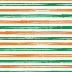 Green and Orange - Marker Stripes