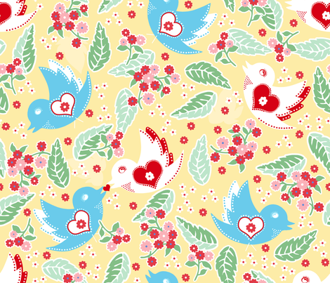 Ulla buttercup fabric by lilyoake on Spoonflower - custom fabric