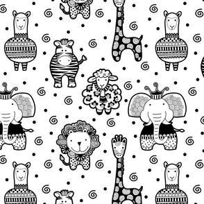 Black and White Critters