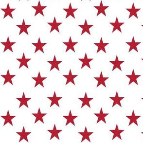 Red stars on white