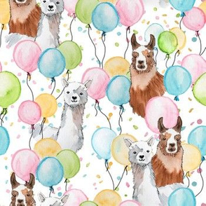 Watercolor party llamas