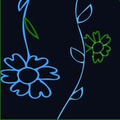 Fallen Flowers blue
