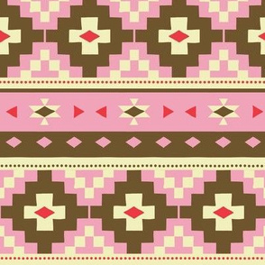 Woven Blanket / pink-brown