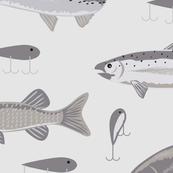 Freshwater Fish Gray Extra Large