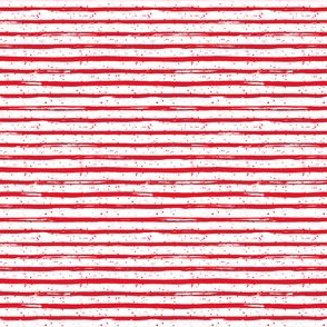 """4"""" Bright Red Stripes with Dots"""