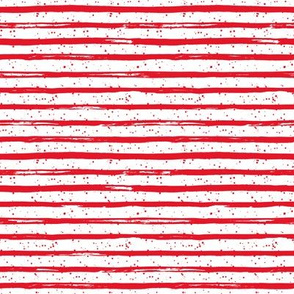 """8"""" Bright Red Stripes with Dots"""
