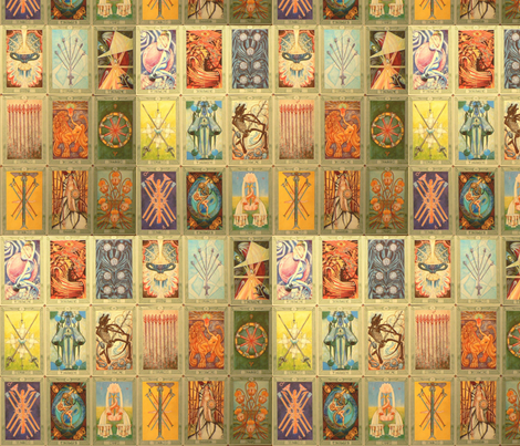 tarot and astrology fabric by live&cre8 on Spoonflower - custom fabric