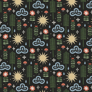 Scandinavian inspired nature pattern