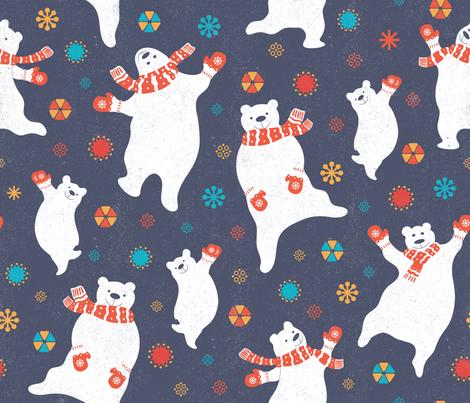 scandinavian dancing bears fabric by ringele on Spoonflower - custom fabric