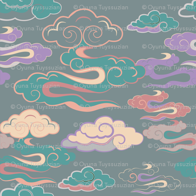 CLOUDS_GREENORANGE_SEAMLESS_STOCK