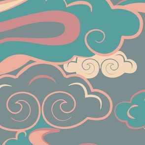 CLOUDS_PASTEL_PINK_GREEN_SEAMLESS_STOCK