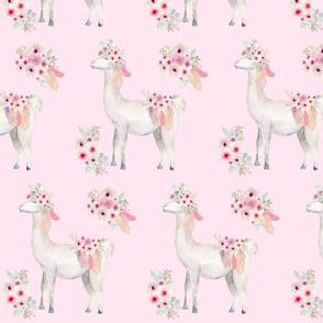 boho floral llama
