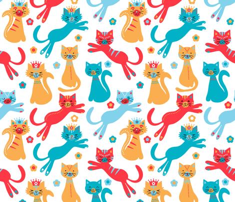 Scandinavian Cats fabric by jannasalak on Spoonflower - custom fabric