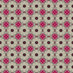 Small pink buttons poster edges 3x3  150