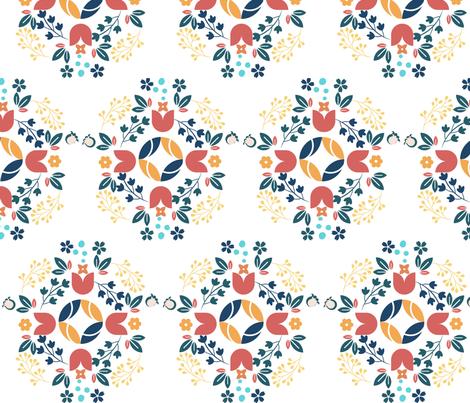 Scandinavian folk art fabric by koswald on Spoonflower - custom fabric