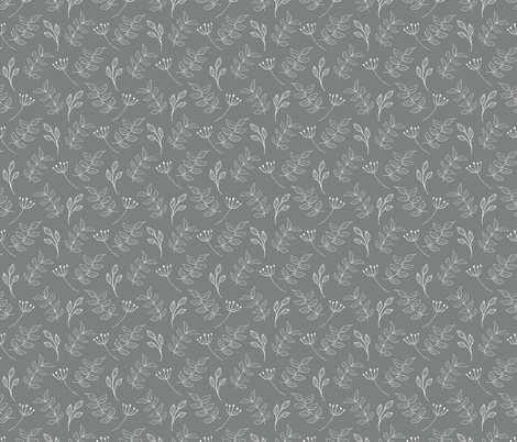 leafy bits fabric by littlefoxhill on Spoonflower - custom fabric