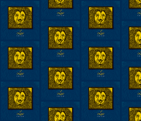 Lion_LEO fabric by denisedian on Spoonflower - custom fabric