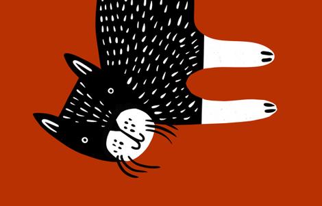 "Big Cat 54"" 2 yards fabric by anda on Spoonflower - custom fabric"