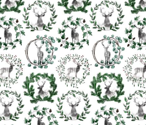 Winterland - Rudolf fabric by kullastintan on Spoonflower - custom fabric