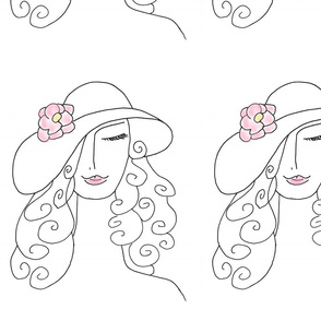 Fashion Lady with Large Hat