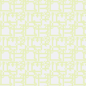 Bamboo Lattice lime green white-ch