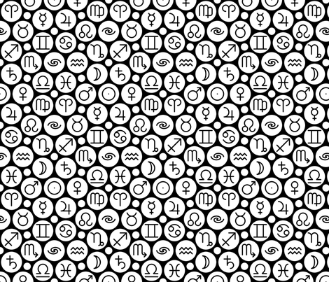 08297789 : symbols of the spheres fabric by sef on Spoonflower - custom fabric