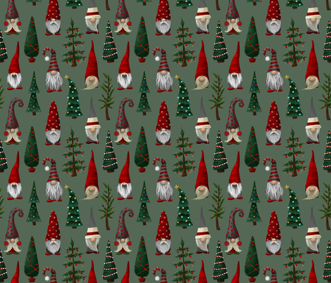 Christmas Gnomes fabric by melissalowry on Spoonflower - custom fabric