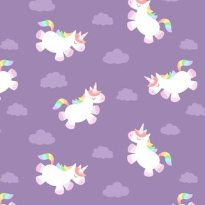 Flying Chubby Unicorn Purple