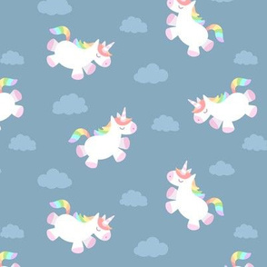 Flying Chubby Unicorn Blue