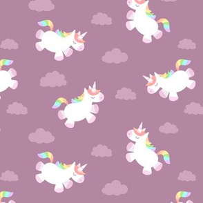 Flying Chubby Unicorn Dark Pink