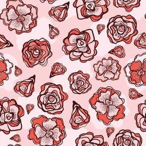 Retro Flower Rose Buds