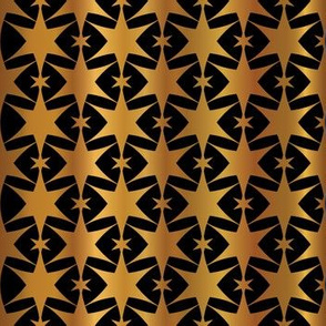 Luxe Copper Gold on Black Starry Night Sky