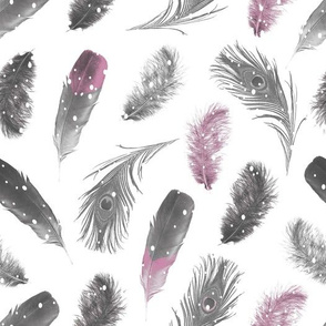 Snowfall Feathers Pink