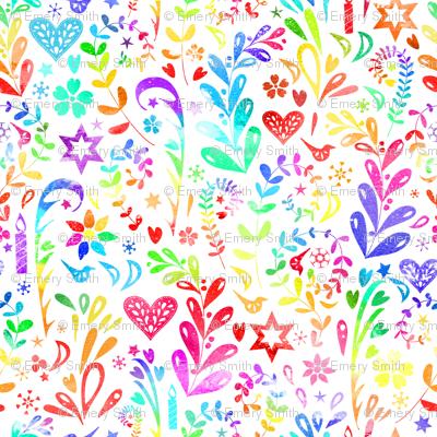 Rainbow Folk Art