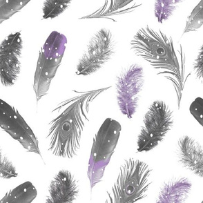 Snowfall Feathers Purple