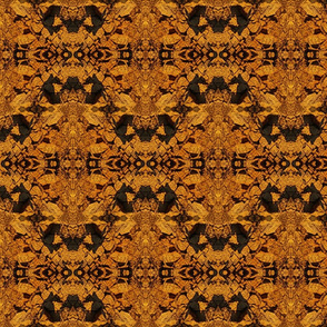 Gold, Brown & Black Inticate Geometric Fractal